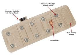 Electric Massage Full Body Mat Pad Heat Vibrating Cushion Bed Comfort Co... - $84.96