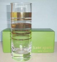 "Kate Spade Lenox HAMPTON STREET Cylinder Vase 10""H Gold Stripes New - $65.90"