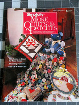 VTG 1983 Simplicity More Quilts & Patches, Herlooms, Gifts, Quilts 0-918178320 - $4.89