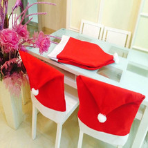 6Pcs/Lot Christmas Decoracion Navidad Hat Chair Covers Christmas Dinner ... - $12.37