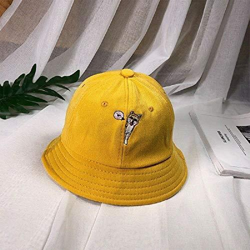 Primary image for Yellow Fisherman Hat Summer Outdoor Fashion Sun UV Protection Straw Cap for Chil