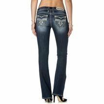 Rock Revival Women's Premium Boot Cut Light Denim Jeans Pants Royal B202 image 3