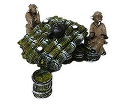 Resin The Old Man Bamboo Table Aquarium Ornament, 10x8x5.5cm - $25.23