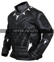 Black Panther Avengers Infinity War T'Challa (Chadwick Boseman) Black Leather Co image 7