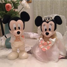 Disney Wedding Mickey & Minnie mouse NTT telegram plush toy limited JAPAN - $39.73