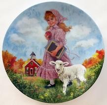 Mary Had a Little Lamb Porcelain Collector Plate John McClelland - $19.99