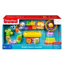 Fisher Price Bright Basic Bundle 5 Classic Toys Set Blocks Shapes 6M+ Tu... - $33.85