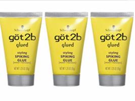 3X- GOT 2b GLUED STYLING SPIKING GLUE, HOLDS STRONG HAIR 1.25 Oz - $9.64