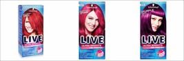 NEW Schwarzkopf LIVE Semi Permanent Colour Ultra Brights or Pastel Vibrant - $7.85