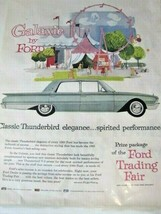 1960 Galaxie by Ford, Classic Thunderbird Elegance Automobile Print Ad - $9.89