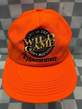WILD GAME Low In Fat 100% Natural BROWNING Hunting Snapback Adult Cap Hat - $11.57