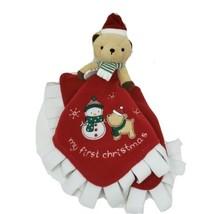 Carter's Mon Premier 1ST Noël Ours en Peluche Sécurité Couverture Animal - $42.64