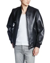 Diesel Mens L-Bluff Leather Bomber Jacket Black, Size Small $798 - $374.75