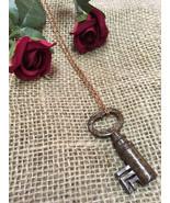 Long Key Necklace - Skeleton Key Authentic Vintage Antique Pendant - 18t... - $19.99