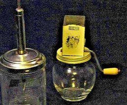 Vintage Tin & Glass Spice Nutmeg Grinder Chopper 5935 12F AA19-1392 image 3