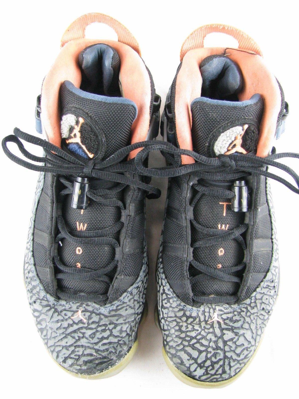 566acf8682bcf7 Nike Air Jordan 6 Rings Black Atomic Orange Wolf Grey 322992-025 Mens Size 8