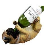 Ebros Lifelike Purebreed Pedigree Canine Adorable Fawn Pug Dog Wine Bott... - $24.70