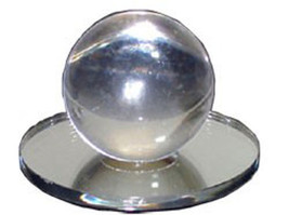 Clear Acrylic Large Ball Stick-On Mirror Knob - $17.95