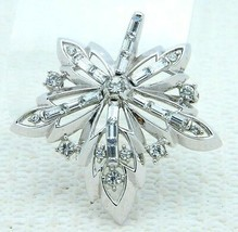 VTG RARE 50's CROWN TRIFARI Patent Pending Clear Rhinestone Flower Pin B... - $148.50