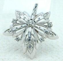 VTG RARE 50's CROWN TRIFARI Patent Pending Clear Rhinestone Flower Pin B... - $148.50