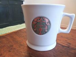 Starbucks 2014 Copper Mermaid Siren Collection White Coffee Mug Bronze - $18.57