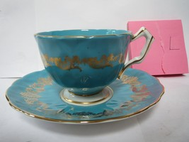 AYNSLEY TEA CUP AND SAUCER              L - $45.00