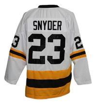Custom Name # Syracuse Blazers Retro Hockey Jersey New White Any Size image 2