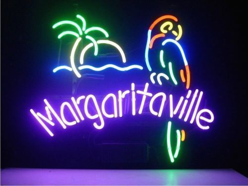 "New Jimmy Buffett Margaritaville Paradise Neon Sign 24""x20"""