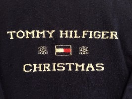 VTG Tommy Hilfiger Christmas Flag SPELL OUT Snowflake Wool Sweater XL - €41,56 EUR