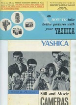 Yashica Still Movie Camera Brochures Take Better Pictures & Warranty Cer... - $27.72
