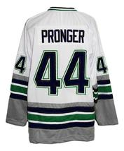 Any Name Number Whalers Retro Hockey Jersey New Sewn White Pronger #44 Any Size image 2