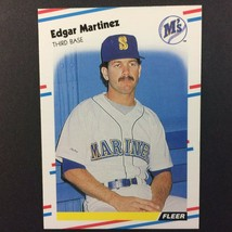 Edgar Martinez 1988 Fleer Rookie Card #378 MLB HOF Seattle Mariners - $3.91