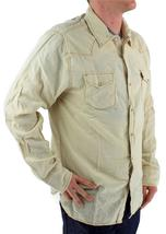NEW LEVI'S MEN'S LINEN LONG SLEEVE BUTTON UP CASUAL DRESS SHIRT BEIGE 8151400 image 3