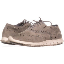 Cole Haan Zerogrand Wing Perforated Oxford Sneakers 628, Ironstone, 5 US - $70.07