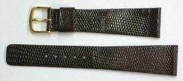 Seiko 20mm Brown Genuine Classic Lizard Authentic Watch Band Strap-NOS - $26.60