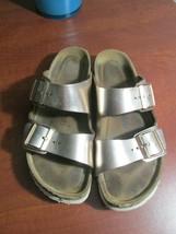 G3  Birkenstock Arizona Rose Gold Leather Soft Footbed Sandal Women's Sz... - $49.49