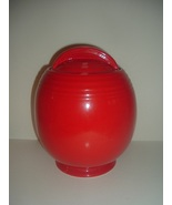 Hall China USA Red Cookie Jar Superior Quality Kitchenware Vintage - $159.99