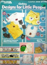 Clothing Designs Little People 70 Designs in Evenweave Ribbon & Waste Canvas 259 - $4.99