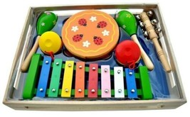 Kids Box of Assorted Musical Instruments Band In A Box III By Schoenhut ... - $38.99