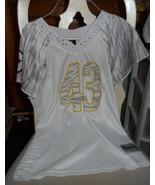 Junior size Medium Pittsburgh Steeler 43 Polamalu  white Jersey - $18.00