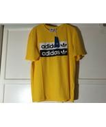 Men's Adidads R.Y.V. Logo T-Shirts Yellow FS8531 - SIze Medium - $15.00