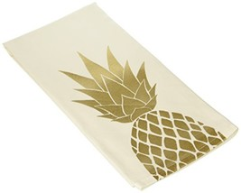 About Face Designs Hello World-Pineapple Tea Towel, White - $11.98