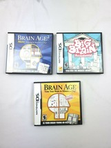 Lot of 3 Nintendo DS Games Big Brain Academy, Brain Age 1 and 2 with Case - $15.83
