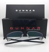 New GUNNAR Computer Glasses CYPHER 54-19 135 Onyx Black Frame w/ Amber Yellow