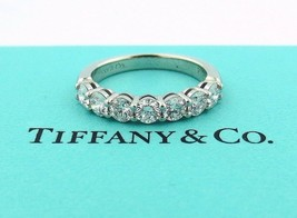 Tiffany & Co Platinum Shared Setting .91CT .93 Diamond 3.5MM Band 5.5 W/ Papers - $7,359.93