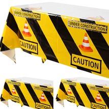 3 Pcs Construction Tablecloth Boys Birthday Dump Truck Theme Tableclot - $25.99