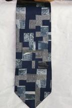 Structure Men's Neck Tie 100 % Silk Blues Geometric - $10.93