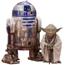 Kotobukiya Star Wars: Yoda & R2-D2 Dagobah ARTFX+ Statue - $89.09