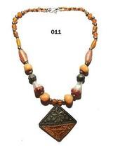 Tibetan Banjara Necklace Resin Beaded Gypsy Stone Tribal Ethnic India Je... - $17.41