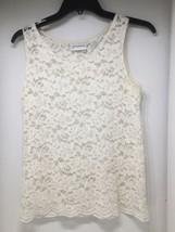 Liz Claiborne Size S Women's Sheer Lace Tank/Cami Rayon/Nylon, Sleeveles... - $9.49
